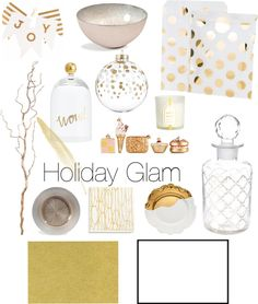 Holiday Glam: #Christmas décor inspiration board