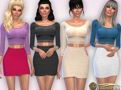 The Sims Resource: Set 035 by Harmonia • Sims 4 Downloads