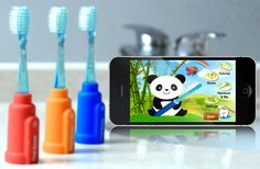 Rainbow Smart Children's Toothbrush - Bluetooth, iOS + Android App (Red)