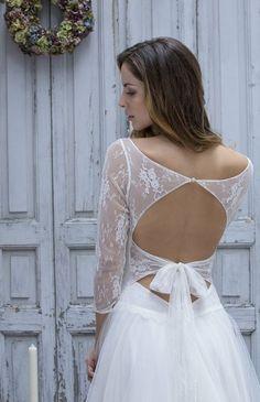 Robe de mariée dos nu à nouer et dentelle - Collection Marie Laporte 2014 - modèle Marie La Fiancée du Panda blog Mariage & Lifestyle