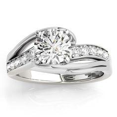 Diamond Bypass Engagement Ring Twisted Setting 14k White Gold (0.20ct) - Allurez.com #allurez #jewelry #jotd #sparkle #gemstone #whitegold #yellowgold #rosegold #gold #platinum #palladium #love #marriage #beautifu l#gorgeous #elegant #stunning #stylish #glamorous #womensjewelry #love #ido #weddingring #bridal #engaged #engagement #marryme #shesaidyes #ring #diamond #gold #wedding #Bride #Bridal #engagementrings #engagementringideas #engagementringinspiration #engagementringgoals