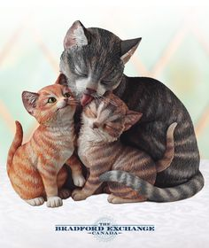 faf1faca48 Celebrate the loving bond of family with this precious collectible cat  sculpture. It s a worldwide
