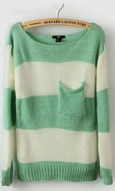 Beautiful Sweater Mint Stripes