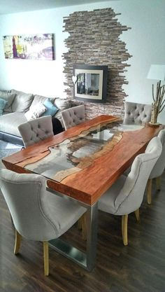 36 Gorgeous Unique Wooden Dining Tables Design Ideas
