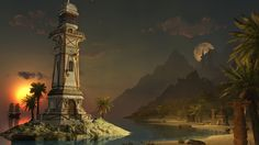 Voyage through a wondrous match-3 adventure in Jewel Match 4! Click the pin to play. Game Background Art, Match 3, Fantasy Landscape, Statue Of Liberty, Buildings, Landscapes, Jewels, Adventure, Play