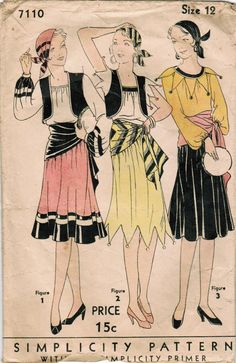1920s Simplicity 7110 Vintage Sewing Pattern by midvalecottage, $45.00