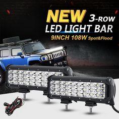 "9"" 108W 3-Row LED Offroad Light Bar#Driving Lamp#Led Work Lights#Car Work Light#work light bar#Auto & Tractor Work Lights#car light#LED Work Light#Work light#LED Work Light Bar#offroad work light"