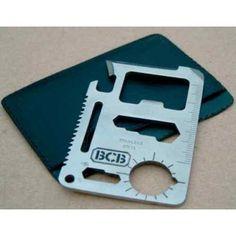 Carte multifonction BCB International 9 en 1 Couteau Survie