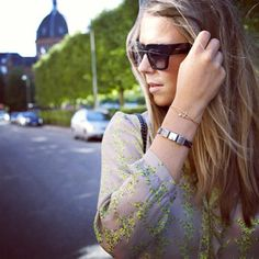 Laura wearing her tattoo bracelet <3