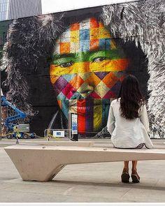Rio de Janeiro Street Art, Etnias by Eduardo Kobra                                                                                                                                                     More