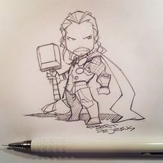 Chibi Thor by Banzchan★ Find more at http://www.pinterest.com/competing/