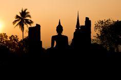 Sunset at Sukhothail_ Thailand