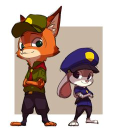 Little Nick and Judy - Zootopia
