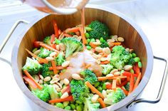Thai Broccoli Salad With Spicy Almond Dressing Recipe | Yummly