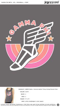 Gamma Phi Beta Moonball Shirt | Sorority Moonball Shirt | Greek Moonball Shirt #gammaphibeta #gfb #gpb #Moonball #Shirt Sorority Shirts, Tee Shirts, Custom Design Shirts, Gamma Phi Beta, Fraternity, Bella Canvas, Shirt Ideas, Screen Printing, Greek