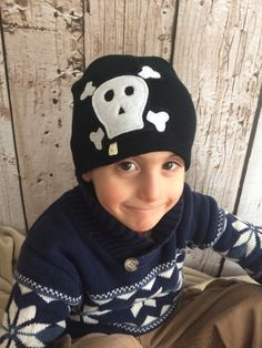 Skull and Crossbones Black Child/ Youth Knit Hat by letterbdesigns on Etsy https://www.etsy.com/listing/225230742/skull-and-crossbones-black-child-youth
