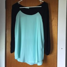 Maurice's Chiffon Top Worn once for a date. I'm large in the chest so didn't like how snug that felt. Otherwise this is a very cute top! Maurices Tops