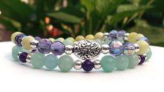 Peridot Jasper and Amazonite Natural Bracelet by BlueStoneRiver, $29.95