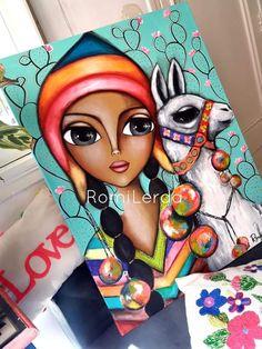 Visage idée Kunstjournal Inspiration, Art Journal Inspiration, Disney Kunst, Disney Art, Doll Painting, Painting & Drawing, Arte Latina, Mini Canvas Art, Africa Art