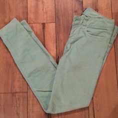 Mint Corduroy Skinnies Gentle use. Great condition. American Eagle Outfitters Pants Skinny