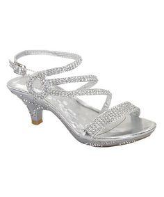 Quiz - Silver Diamante Low Heel Court Shoes | Weddings | Pinterest ...