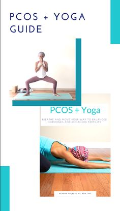 Written for women with PCOS, this guide shows you how to regulate your period, lower your androgens, improve insulin res Asana Yoga Poses, Yoga Bewegungen, Yoga Sequences, Yoga Flow, Yoga Beginners, Yoga For Pcos, Pcos Exercise, Hata Yoga, Fertility Yoga