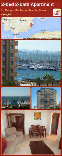 2-bed 2-bath Apartment in La Manga, Mar Menor, Murcia, Spain ►€184,950 #PropertyForSaleInSpain