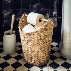 Woven Loo Roll Holder | Graham & Green Loo Roll Holders, Toilet Roll Holder Basket, Graham, Rustic Toilet Paper Holders, Rustic Toilets, Unique Home Accessories, Toilet Accessories, House Accessories, Toilet Paper Storage
