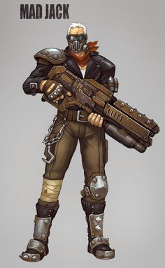 Junkertown based skin for soldier : overwatch_fanart Character Bio, Character Concept, Character Design, Concept Art, Overwatch Tracer, Overwatch Skin Concepts, Overwatch Costume, Jack Morrison, Overwatch Community