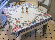 Vintage Simtex Tablecloth Colorful Mexican by unclebunkstrunk