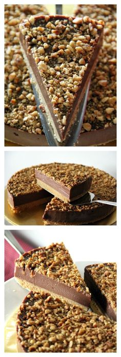 No-bake Nutella Cheesecake. The creamiest, richest, loaded cheesecake with Nutella and toasted hazelnuts. Sinfully decadent | http://rasamalaysia.com