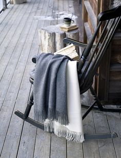 I have this rocking chair. Rocking chair, blanket, books & tea.... AH! Rustic.Meets.Vintage