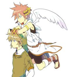 link and pit my two favorite characters from super smash bros.!