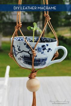 I would ship the leather, but love the tea cup and copper. Tiny house = planting vertically...