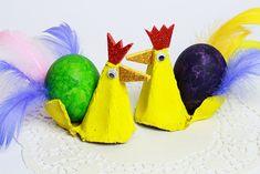 Jak zrobić wielkanocnego kogucika z pudełka po jajkach