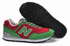 Joes New Balance 574 Kelly Green Red Lover Christmas DJ Mars Walters Holiday Womens Shoes