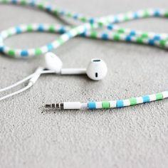 DIY Hama Bead Earphones