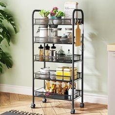 Wire Baskets, Storage Baskets, Storage Shelves, Storage Organization, Shelving, Kitchen Office, Kitchen Cart, Kitchen Storage, Storage Trolley
