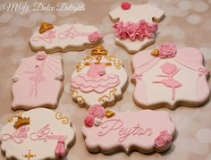 Princess ballerina baby shower cookies   Cookie Connection