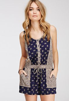 Paisley Print Romper | FOREVER21 - 2000055607- this is way too short for me, but so FREAKIN' adorable!
