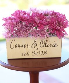 Another great find on #zulily! Wedding Personalized Planter Box #zulilyfinds
