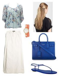 """Pentecostal Outfit "" by daisnalopez on Polyvore featuring Wallis, MANGO, Yves Saint Laurent, René Caovilla, France Luxe and La Mer"