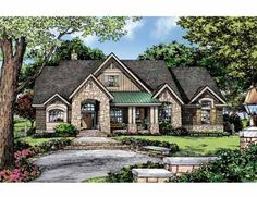 Floor Plans AFLFPW75289 - 1 Story Craftsman Home with 3 Bedrooms, 2 Bathrooms and 1,920 total Square Feet