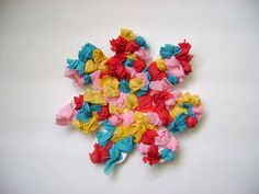 Scrunched Tissue Paper Flowers