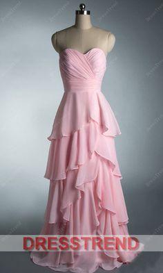Pink Prom Dress/Long Prom Dress/Pink Bridesmaid Dress/Long Pink Dress/Pink Long Dress/Long Evening Dress--$99