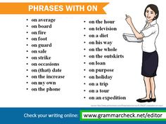 "Phrases with ""on"""