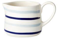 Striped Creamer, Gray/Blue