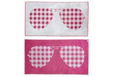 S. Moss Reversible Sunglasses Towel, Berry on OneKingsLane.com