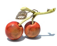 Hey, I found this really awesome Etsy listing at https://www.etsy.com/listing/181476945/double-cherry-fruit-brooch-by-har-a-very