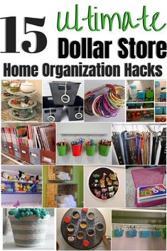 These dollar store Ultimate organization ideas are for every area of your home & are amazingly helpful! You can't beat these amazing tips, especially for the price! 15 Dollar Store Organization Ideas For Every Area In Your Home. I love these cheap st Diy Kitchen Storage, Diy Kitchen Decor, Diy Storage, Diy Home Decor, Cheap Storage, Storage Hacks, Kitchen Ideas, Kitchen Tips, Storage Ideas